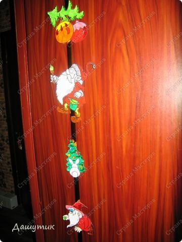 Предлагаю вам сделать вот такую новогоднюю гирлянду.  фото 1