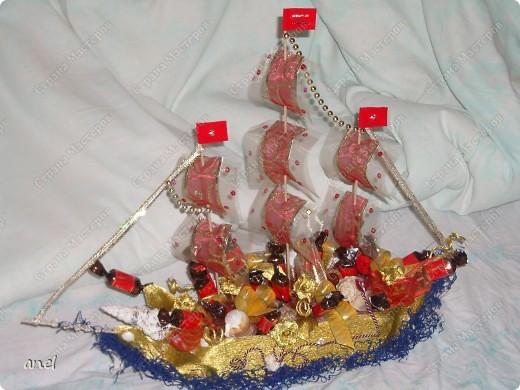 Много романтики и немного конфет,вот кораблик и готов!!