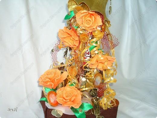 Рог изобилия с розочками собственного изготовления. фото 1