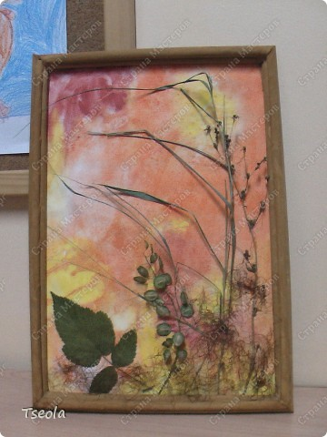 Осенняя поделка для сада из природного материала. {amp}#xD;{amp}#xA;