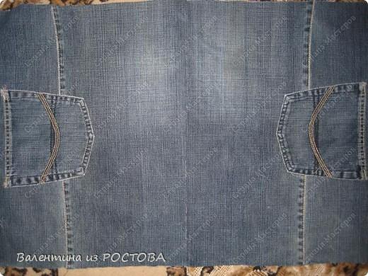 Гардероб Шитьё Спортивная сумка из старых джинсов Ткань фото 3