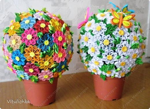 """Увидела эту идею в блоге """"Завитушки от Ксюшки"""" (http://zavitoc.blogspot.com/2009/09/blog-post_14.html) и """"заболела"""". Первые два цветочных шара сделали с детьми на уроках труда. А потом... фото 1"""