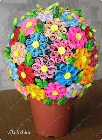 """Увидела эту идею в блоге """"Завитушки от Ксюшки"""" (http://zavitoc.blogspot.com/2009/09/blog-post_14.html) и """"заболела"""". Первые два цветочных шара сделали с детьми на уроках труда. А потом... фото 2"""