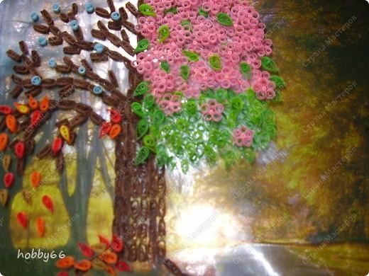 Дерево сезонов...Квиллинг