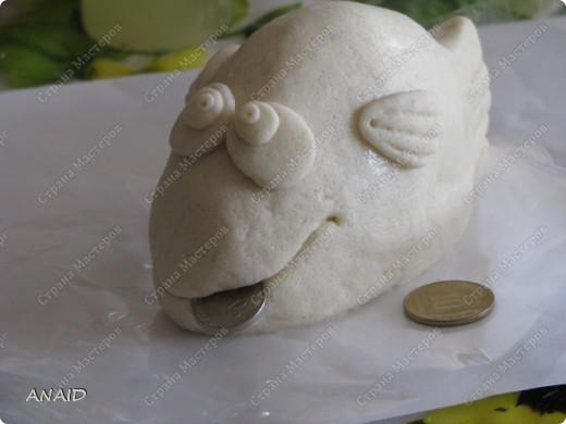 Мастер-класс Скульптура Лепка Роспись слонёнок и рыбка на монетках МК Тесто соленое фото 17