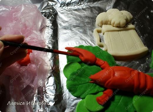 Картина панно рисунок Мастер-класс Новый год Рождество Лепка Роспись Раки от Р до И   Акварель Гуашь Тесто соленое фото 39