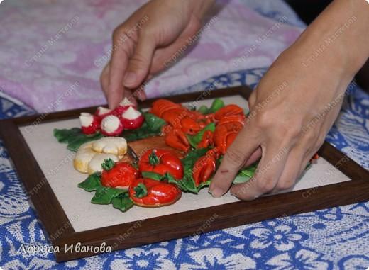 Картина панно рисунок Мастер-класс Новый год Рождество Лепка Роспись Раки от Р до И   Акварель Гуашь Тесто соленое фото 120