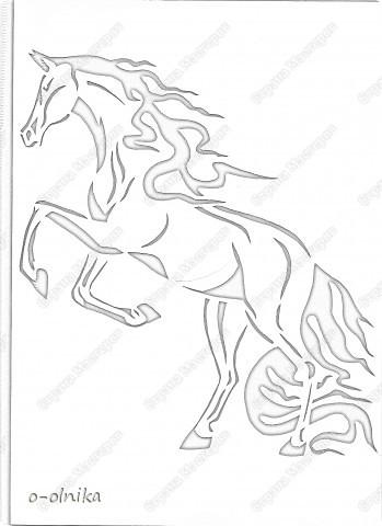 Рисунок лошади нашла на просторах интернета. Кое-что доделала, кое-как переделала. Вот что получилось. фото 2
