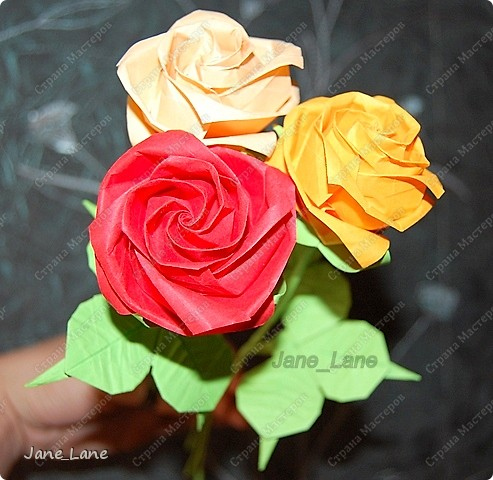 Оригами Розы оригами Бумага