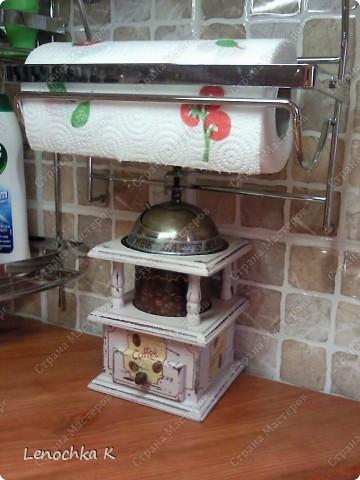 Я очень большая любительница кофе, поэтому не смогла удержаться от декорирования своей любимой кофемолки и баночки для кофе.... фото 10