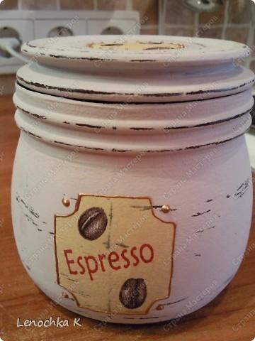 Я очень большая любительница кофе, поэтому не смогла удержаться от декорирования своей любимой кофемолки и баночки для кофе.... фото 15