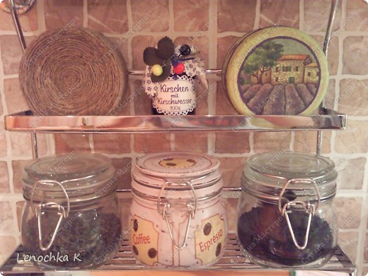 Я очень большая любительница кофе, поэтому не смогла удержаться от декорирования своей любимой кофемолки и баночки для кофе.... фото 16