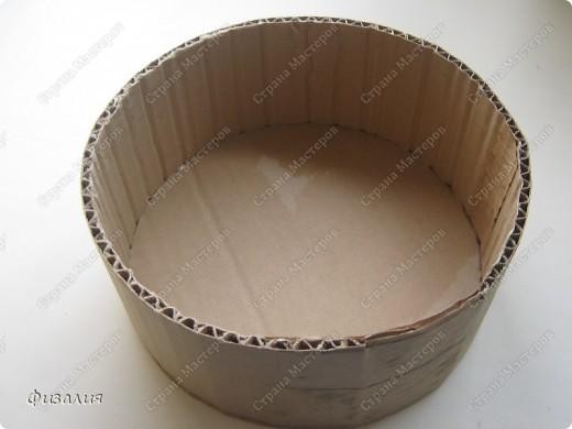 Круглая коробки своими руками