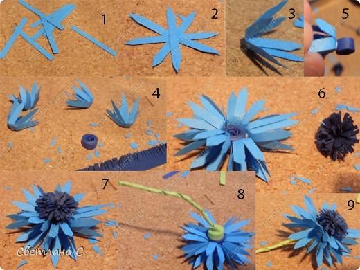 Сделать своими руками цветы васильки