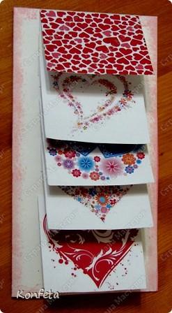 Открытки, открытка водопад из сердечек своими руками из бумаги