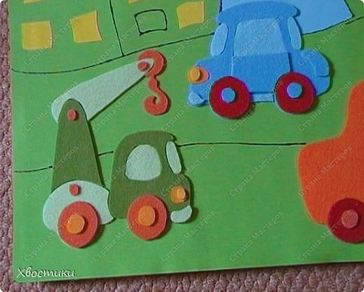 Вот такое я сделала панно для мальчишек нашей группы. Решили оформить стенки для мальчишек и девчонок. Панно размером 70 на 100 см. Основа - два листа картона (голубой и зелёный) формата ватмана, приклеенные на плотный картон от упаковки мебели (выпросила в мебельном магазине). фото 10