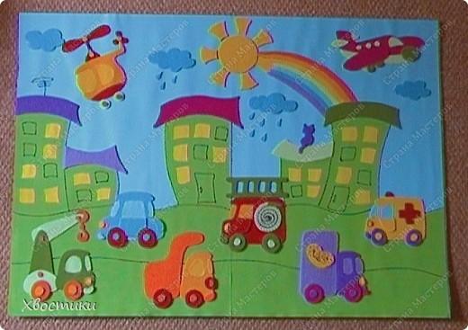 Картины из фетра с детьми