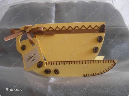 """В очередное путешествие по сети Интернет мною была найдена интересная идея открытки """"Чашка"""". Вот ссылки на моих вдохновителей и выкройку к открытке: http://scrapalbum.blogspot.com/2010/01/tea-time.html http://ilowescrap.pl/wpis.php?postPage=8 фото 9"""