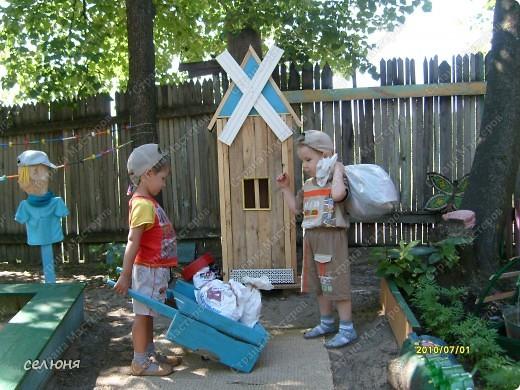 Фоторепортаж Оформление участков в детском саду Материал бросовый фото 3