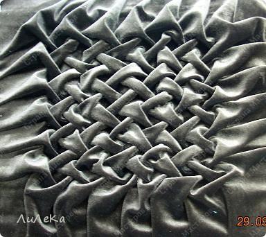 """Мастер-класс Шитьё: Подушка с буфами  """"Плетенка """" Нитки, Ткань.  Фото 1."""