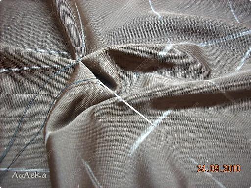 Интерьер Мастер-класс Шитьё Подушка сбуфами Плетенка Нитки Ткань фото 22