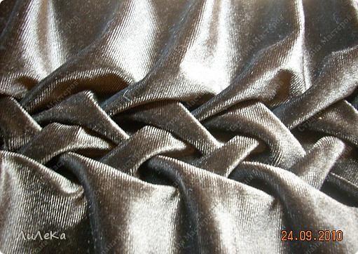 Интерьер Мастер-класс Шитьё Подушка сбуфами Плетенка Нитки Ткань фото 26