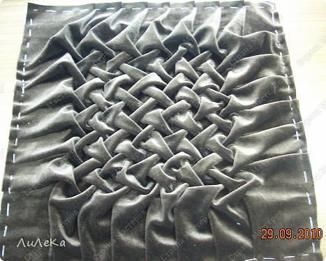 Интерьер Мастер-класс Шитьё Подушка сбуфами Плетенка Нитки Ткань фото 32