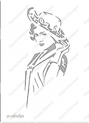 Картина панно рисунок Вырезание МОЛОДАЯ ДАМА вырезалка Бумага фото 2.
