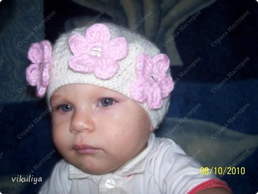 Ура! Вот и я связала беретик для своей любимой дочурки! Огромное спасибо Ирине Голубке За её прекрасные работы и вдохновение на создание красоты!!!! фото 2