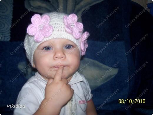 Ура! Вот и я связала беретик для своей любимой дочурки! Огромное спасибо Ирине Голубке За её прекрасные работы и вдохновение на создание красоты!!!! фото 1