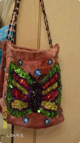 сумочка для любимой крестницы...влюблённые сердца фото 2