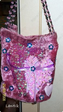 сумочка для любимой крестницы...влюблённые сердца фото 1