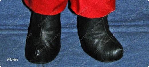 Сапоги подойдут для куклы мужского пола высотой 35-40 см. Я использовала искусственную кожу. фото 1