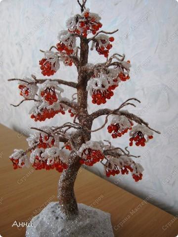 """Вот и у меня """"выросла"""" рябинка. Первые холода, скоро снег, а моя уже под снегом... Загрустила как мне кажется... Может будет подружкой http://stranamasterov.ru/node/92435 ? фото 1"""