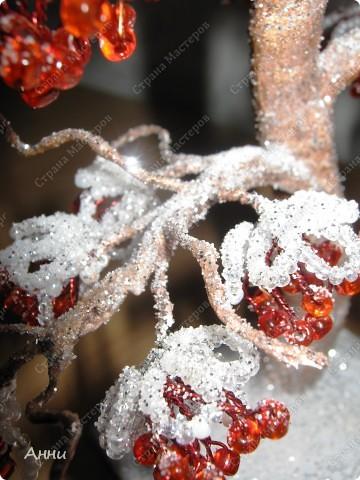 Рябина под снегом Бисероплетение.