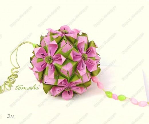 Double flower by Maria Sinayskaya (соноб) на мой взгляд, получилась немного весенняя кусудама фото 2