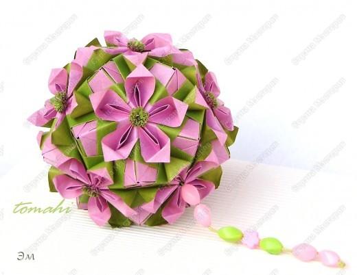 Double flower by Maria Sinayskaya (соноб) на мой взгляд, получилась немного весенняя кусудама фото 1
