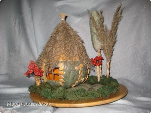 Осенняя поделка домик