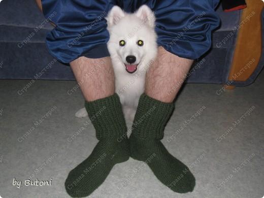 Продолжаем утепляться к осенне-зимнему сезону! На этот раз связала носочки для любимого мужа! фото 12