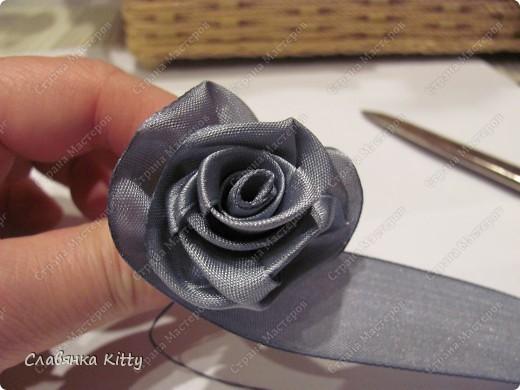 Мастер-класс Роза из ленты 1 Это просто Ленты фото 26