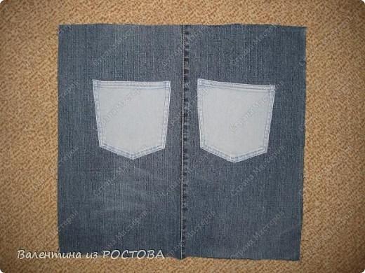 Для пошива сумки понадобится: 2 джинсов разных расцветок, ножницы, нитки, сантиметр, швейная машинка, подкладочная ткань, терпение. фото 5