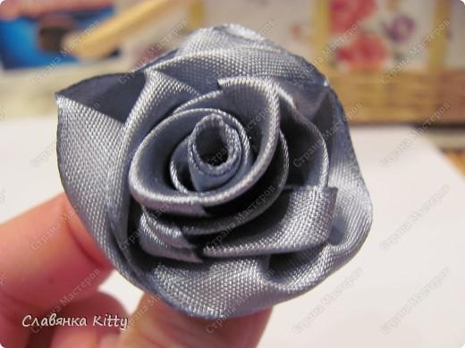 Мастер-класс Роза из ленты 1 Это просто Ленты фото 33