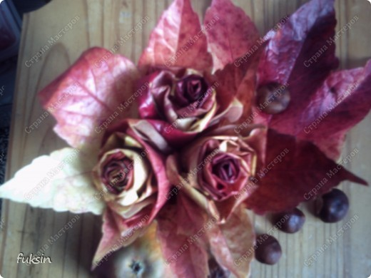 Сейчас только ленивый не сделал эти осенние розы. )) фото 1
