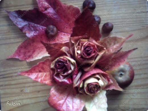 Сейчас только ленивый не сделал эти осенние розы. )) фото 2