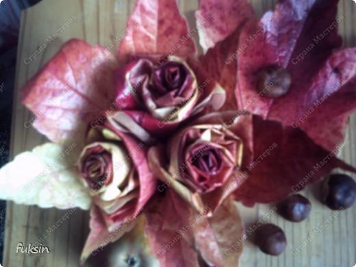 Сейчас только ленивый не сделал эти осенние розы. )) фото 3