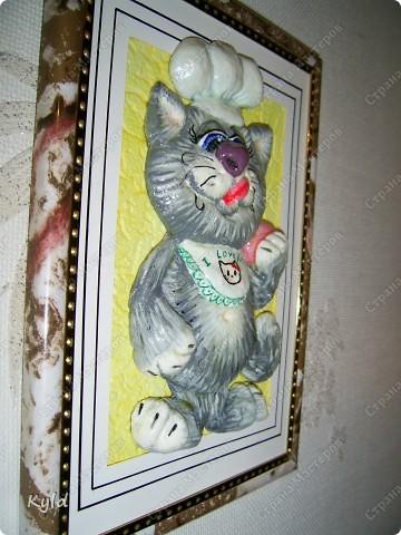 Снова кот, снова по мотивам Марины Архиповой, снова ей СПАСИБО))))))) Меня эти коты теперь не отпускают, вот еще партию налепила. сохнут)))) Этот был вчера подарен подруге на ДР, она его сырого увидела и сказала, что это ей)))) Раньше не показывала, чтобы она не увидела))) фото 4