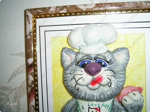 Снова кот, снова по мотивам Марины Архиповой, снова ей СПАСИБО))))))) Меня эти коты теперь не отпускают, вот еще партию налепила. сохнут)))) Этот был вчера подарен подруге на ДР, она его сырого увидела и сказала, что это ей)))) Раньше не показывала, чтобы она не увидела))) фото 3