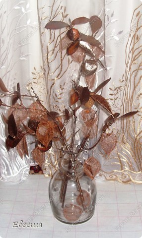 Веточки черноплодной рябины тоже покрыты аэрозольной краской фото 3