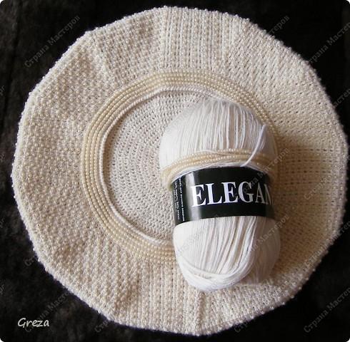 Очередной бисерный берет. Пряжа ELEGANT (Vita), состав: 30%акрил, 70%шерсть, 400м/100г. Бисер Чехия, Jablonex, №9 Ушло примерно 120г. пряжи, 90г. бисера фото 2