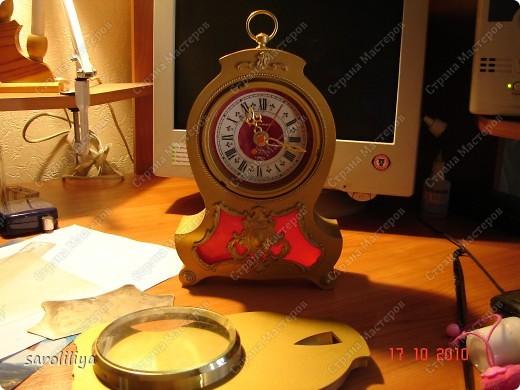 Часы оформленные холодным фарфором фото 2